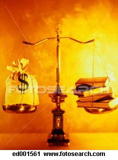 Balança dinheiro