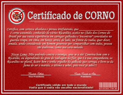 Corno - Certificado